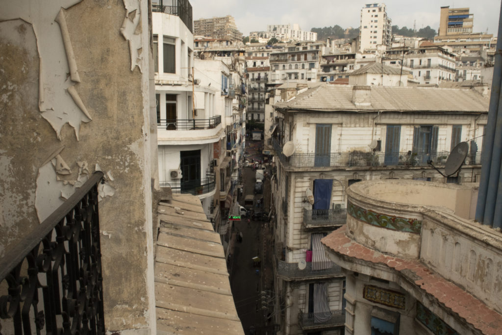 View on Algiers scummy street