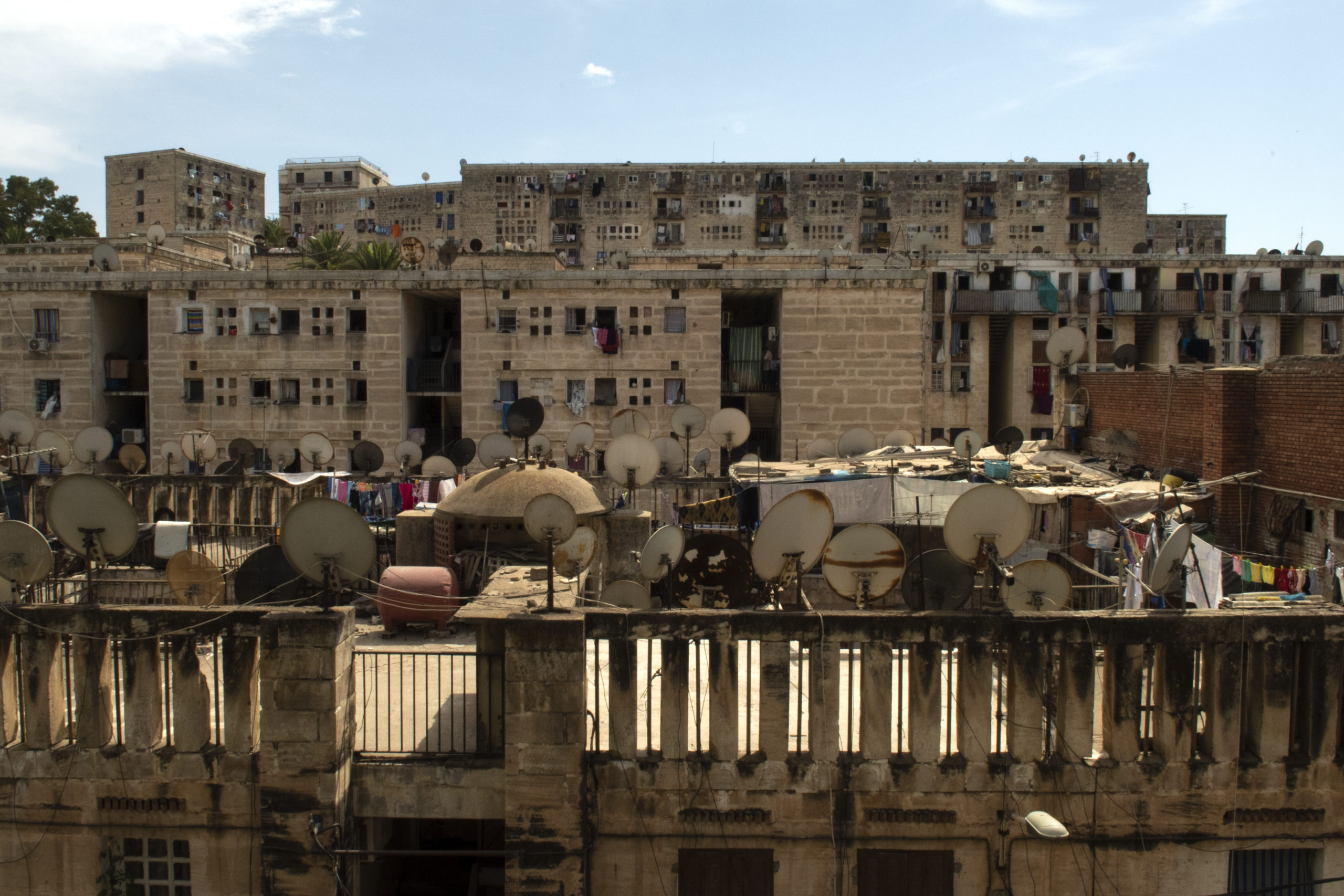 Satellite dishes in Algiers