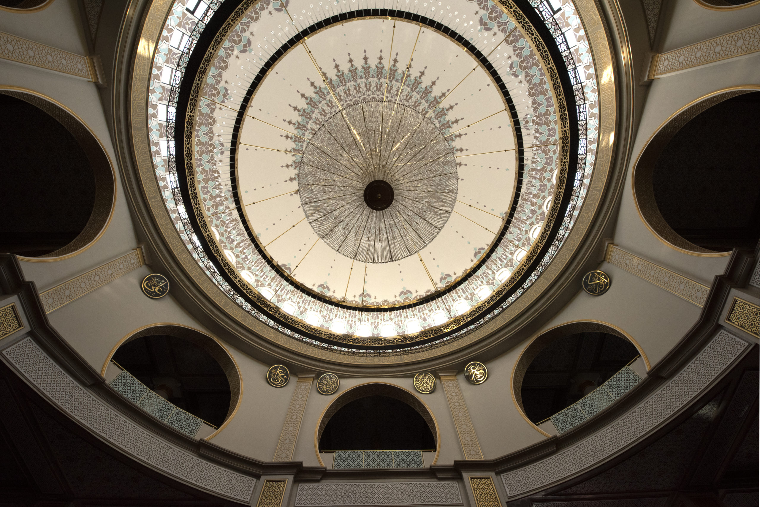 Chandelier at the mosque